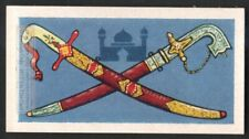 WEAPONS Persian Bokhara Sword and Arabia State Sword 55+ Y/O Trade  Card