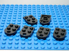 LEGO LEGOS -  Set of  6  Black Plate, Modified 3 x 2 with Hole   Star Wars