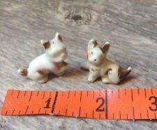Pair of Vintage Dog Miniature Figures Terrarium or Diorama