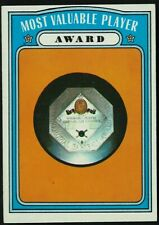 1972 TOPPS MOST VALUABLE PLAYER AWARD CARD #622 SEMI HIGH NUMBER HIGH GRADE MINT