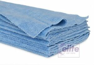 Elite Zero Edge Blue Edgeless Microfibre Buffing & Detailing Cloths - Pack of 10