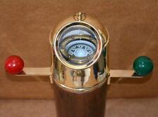 """Antique brass & wooden gimbal compass 20"""" ships binnacle gimballed compass"""