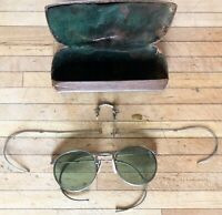 Vintage Ful-Vue AO23 Eye Glasses W/ Extra Parts,Motorcycle, Aviator, Steampunk