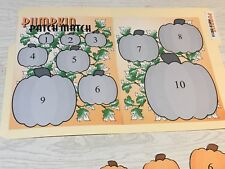 Pumpkin Patch - File Folder Game - Laminated - Activity Set - Teaching Supplies