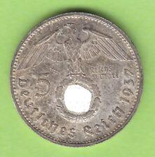 5 reichsmark 1937 G dans vz jolie nswleipzig