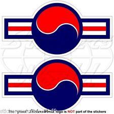 SÜDKOREA Luftwaffe Flugzeug Früher Roundel ROKAF Südkoreanische Aufkleber x2