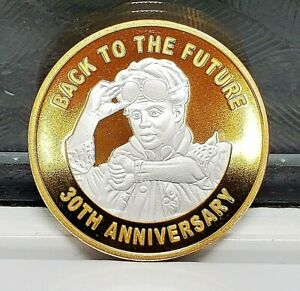 Back to the Future Silver & Gold Coin Time Travel Movie 80s Retro Old TV Series
