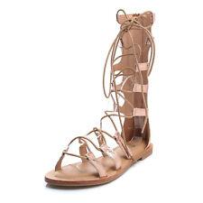 Sandali donna scarpe tacco basso gladiatore eco pitonata stringhe schiava n105