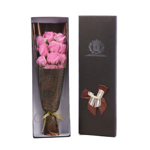 Soap Flowers Pink Rose Bouquet Gift Box Handmade Luxury Scented Soap Great Gift
