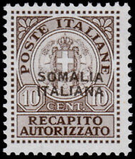 Italian Somaliland Authorized Delivery Stamp - Unissued (1941) Mint H VF