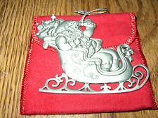 Avon Fine Collectibles Pewter St. Nicholas 1995 Ornament w/ Red Pouch