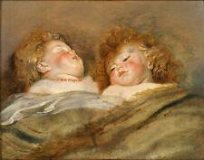Dream-art Oil painting 鲁本斯《两个熟睡的孩子》Two sleeping children by Rubens hand painted