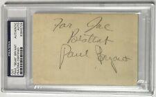 PAUL BEAR BRYANT Auto Autographed Guest Check PSA/DNA Certified Alabama Crimson