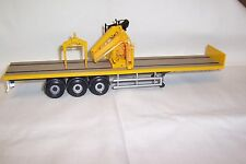Corgi - Modern Truck - Heavy Haulage - Flatbed Crane Trailer - Tarmac - 1:50th..