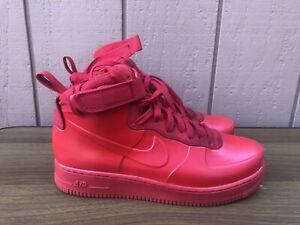 EUC Nike Air Force 1 Foamposite Cupsole 9.5 Shoes University Red BV1172-600 C8