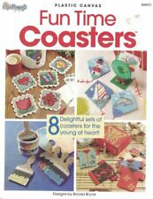 Fun Time Coasters 8 Designs in Plastic Canvas Paintbrush Cows Feet Music & More