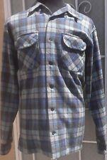 Pendleton Board Shirt BEACH BOYS Mens Large LONG Limited Edition Wool Plaid Nice