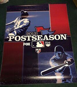 Original 2013 MLB Postseason Poster Hung in Fenway Park Boston Red Sox