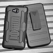 Rugged Armor Clip Holster Hybrid Case Hard Cover For LG G Pro Lite D686 D680
