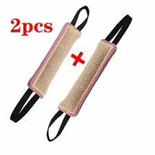 2pcs Tactic Pet Supplies Police Dog Training Tug Stick Bite Rod Toy Puppy Teeth