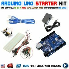 Arduino UNO R3 CH340G MB102 830 Breadboard Power Supply 65pcs jump cable USB