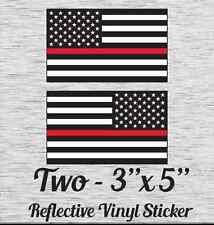 "Fire Flag B Reflective Vinyl Sticker 3"" X 5"" Set of 2"
