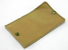 "VINTAGE LIGHT BROWN LEATHER MENS KEY TAINER HOLDER POUCH 3-5/8"" WIDE"