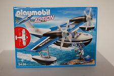 PLAYMOBIL 9436 Polizei-Wasserflugzeug Neu OVP
