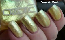NEW! OZOTIC Indie nail polish lacquer in 904 SUGAR yellow gold glass fleck flake