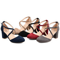 Brinley Co. Comfort Womens Classic Ankle-strap Pump