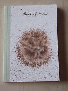 Beautiful WRENDALE A6 Paperback Notebook - AWAKENING - HEDGEHOG - NEW