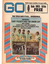 GARY PUCKETT AND THE UNION GAP FILLMORE EAST AD GO MAGAZINE WMCA  NOV 22 1968