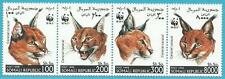 Somalia aus 1998 ** postfrisch Viererstreifen - WWF Tiere, Karakel!