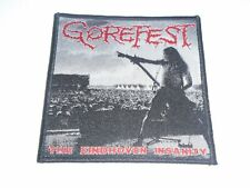 GOREFEST THE EINDHOVEN INSANITY WOVEN PATCH