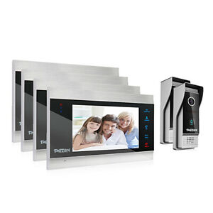 TMEZON 1080P Video Door Phone Doorbell Intercom Entry System 7 inch LCD Monitor