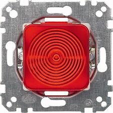 MERTEN Lichtsignal E10 rote Haube Einsatz Unterputz 319016