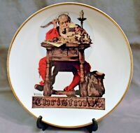 "Norman Rockwell Collector Plate 8"" - Saturday Evening Post Dear Santa, Gold Trim"