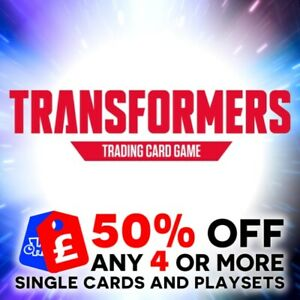 TRANSFORMERS TCG WAVE 1 CHARACTER CARDS - AUTOBOT / DECEPTICON - HOLO / FOIL NEW