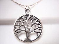 Tree of Life Filigree Pendant 925 Sterling Silver Corona Sun Jewelry