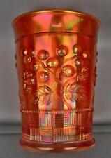 Carnival Glass - Northwood RASPBERRY Dark Marigold Tumbler 4057