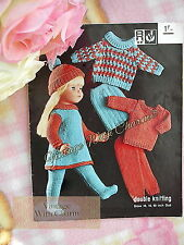 Vintage 60s Knitting Pattern Dolls Dress, Sweaters, Trews, Hat etc. JUST 99p!!!