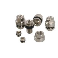 Metal Chrome Finish Steel Flush Mount Valve Stems and Caps 4 Pack wheel rims New