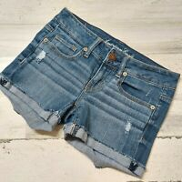 American Eagle Women's Size 0 Shortie Jean Shorts Stretch Blue