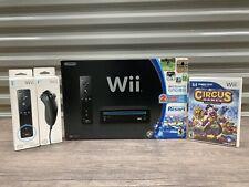 NIB Nintendo Wii Black Console Wii Sports & Wii Sports Resort w/ Extras