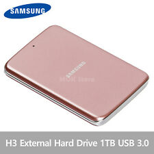 Samsung H3 Portable External Hard Disk Drive HDD USB 3.0 1TB - Pink Gold
