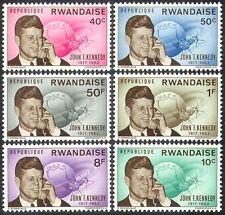 Ruanda 1965 JFK/presidente John F Kennedy/espacio/Gente/Los políticos 6 V Set n41246