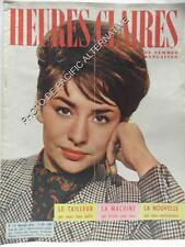 Revue HEURES CLAIRES magazine 155 de FEVRIER 1960 collection feminin mode femme