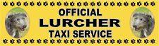 LURCHER OFFICIAL TAXI SERVICE  Dog Car Sticker  By Starprint