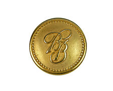 """Brooks Brothers Logo BB Metal Main Replacement Button .80"""""""