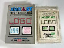 Vintage 1980s Atari ST,STE - LOGO USER'S GUIDE Book + Software Floppy Disk